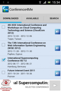 Here you can manage yours conferences and download more!